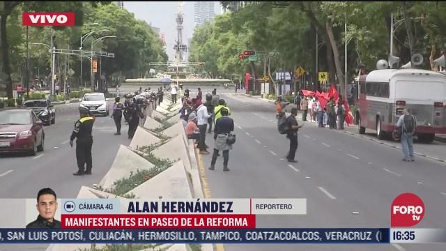 manifestantes protestan en el imss en paseo de la reforma en cdmx