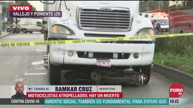 Motociclista muere atropellado por camión en avenida Vallejo y Poniente 128, Azcapotzalco