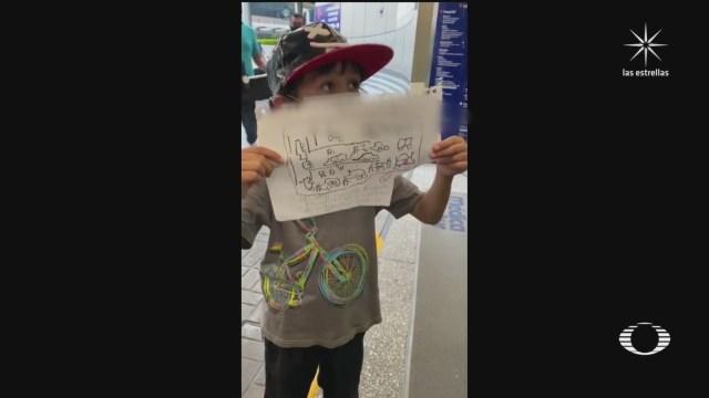 Niño intenta visitar al secretario Omar García Harfuch para darle un dibujo en hospital