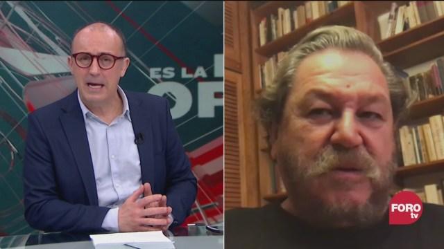 Julio Patán platica con el escritor Paco Ignacio Taibo II, sobre sus novelas policiacas sus biografias y el fce