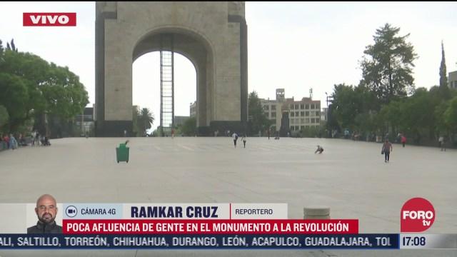 FOTO: 4 de julio 2020, poca afluencia de gente en el monumento a la revolucion