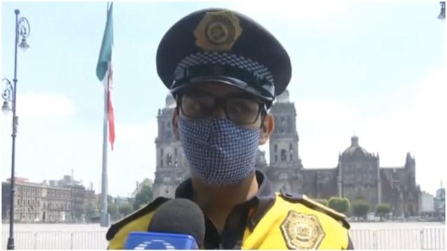 Policía gana reto de lagartijas