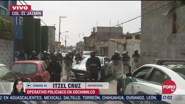 policia cdmx sigue operativo contra narcomenudeo en xochimilco