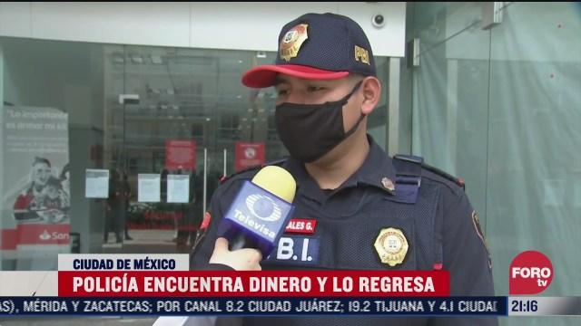 policia de cdmx encuentra 8 mil pesos y los regresa