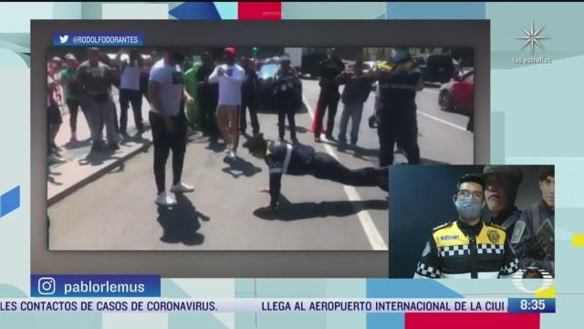 policia de transito gana reto de lagartijas en la cdmx