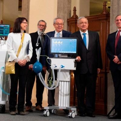 Presenta AMLO ventiladores para pacientes con COVID, desarrollados por Conacyt