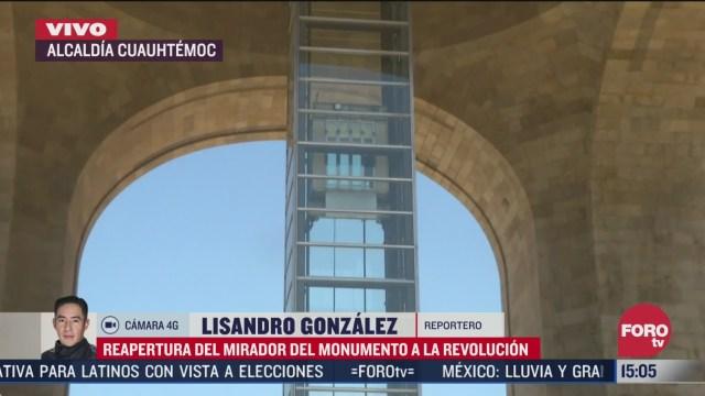 reabre mirador del monumento a la revolucion
