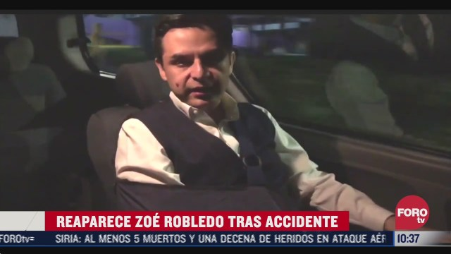 reaparece zoe robledo tras accidente