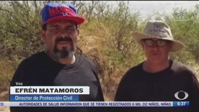 rescatan a dos migrantes en el desierto de chihuahua
