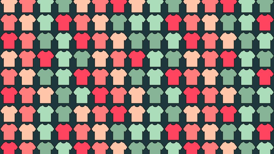 Reto Visual: encuentra las playeras con cuello V, ilustración