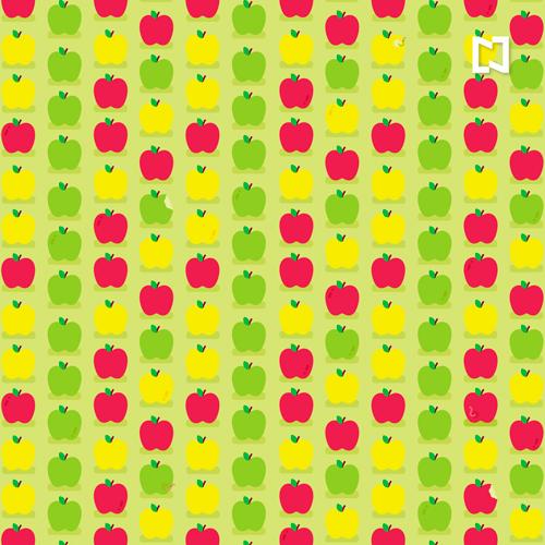 Encuentra las manzanas con gusano en este reto visual