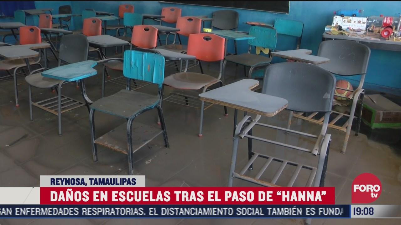revisan escuelas danadas por hanna en reynosa