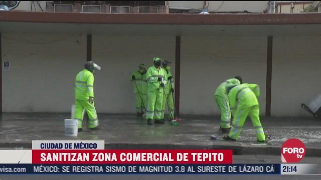 sanitizan calles de tepito por covid-19 durante tres días