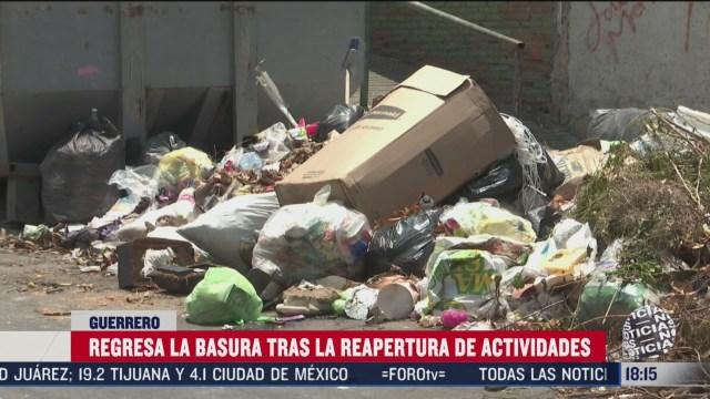se acumula la basura tras reapertura de playas de acapulco