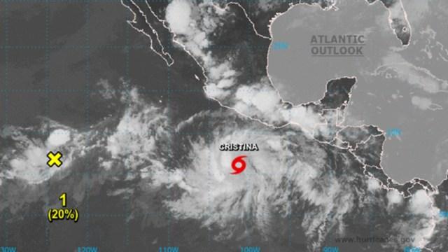 Se forma la tormenta tropical Cristina en el Pacífico; prevén evolucione a huracán