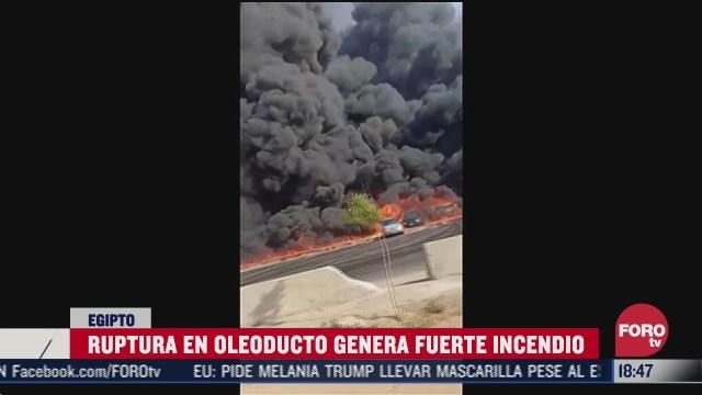 se incendia oleoducto en egipto hay 12 lesionados