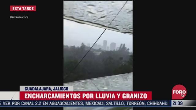 FOTO: 12 de julio 2020, se registra fuerte granizada y rafagas de viento en guadalajara jalisco