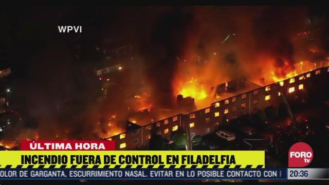 incendio en edificio de Filadelfia EEUU