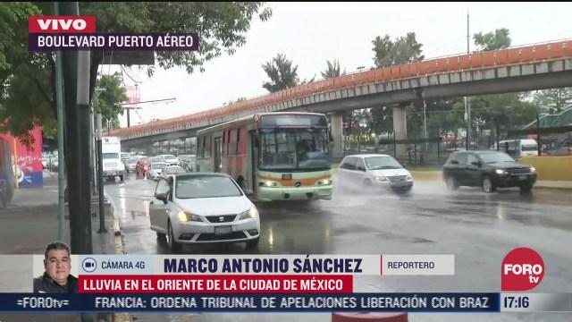 se registra lluvia al norte y centro de la ciudad de mexico