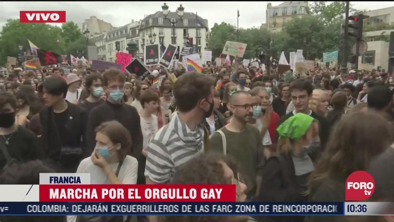 FOTO: 4 de julio 2020, se registra multitudinaria movilizacion por el orgullo gay en paris
