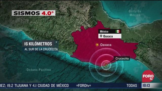 se registra nuevo sismo de magnitud 4 0 en oaxaca