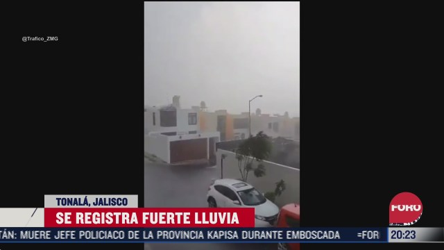 FOTO: 25 de julio 2020, se registran fuertes lluvias en tonala jalisco