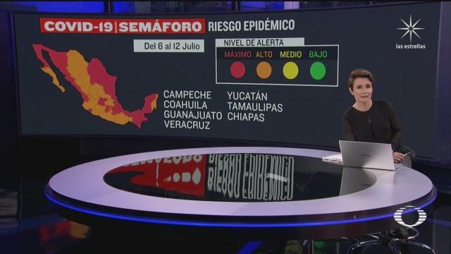 coronavirus semaforo epidemiologico en rojo y naranja 3 julio 2020