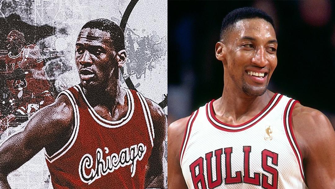 Michael Jordan y Scottie Pippen collage.
