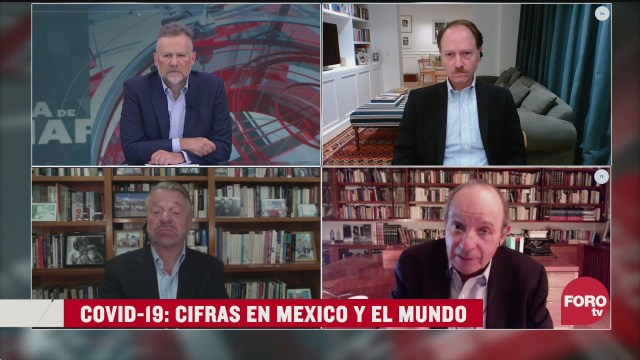 Leo Zuckermann, Héctor Aguilar Camín, Jorge Castañeda y Javier Tello examinan las cifras de la pandemia de coronavirus en México