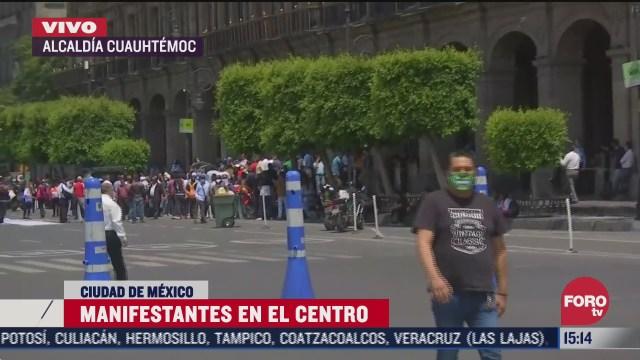 taxistas bloquean calles del centro de cdmx