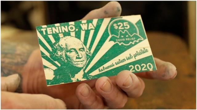Tenino Moneda Madera