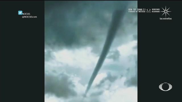 tornado formado en Queretaro por la tormenta tropical Cristina