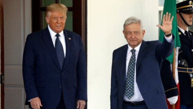 Donald Trump y Andrés Manuel López Obrador en la Casa Blanca