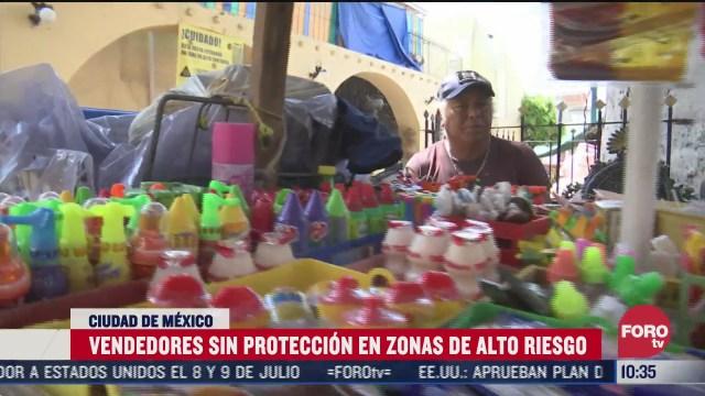 vendedores no usan proteccion en zonas de alto riesgo por covid