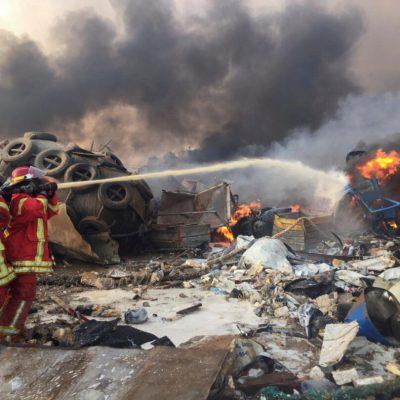 Las fotografías más impresionantes de la explosión en Beirut