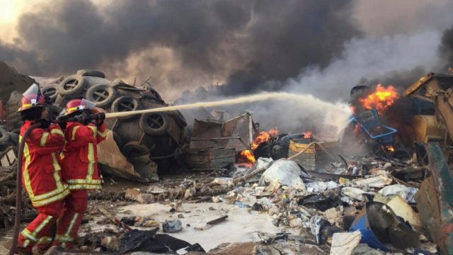 La explosión del puerto de Beirut en fotos