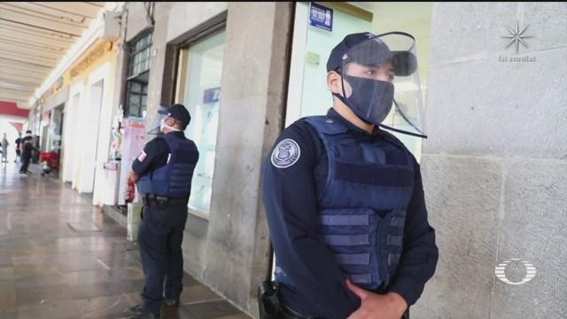 brote de contagios por coronavirus en policías de Puebla