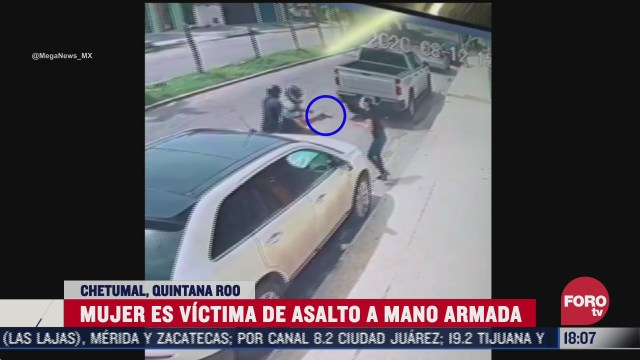 amenazan a mujer con una pistola para robarle su bolsa en q roo