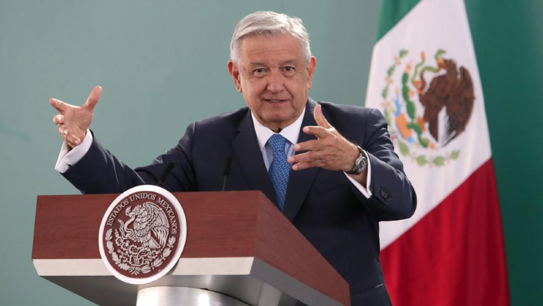 Andrés Manuel López Obrador, Presidente de México, durante la mañanera en Zacatecas