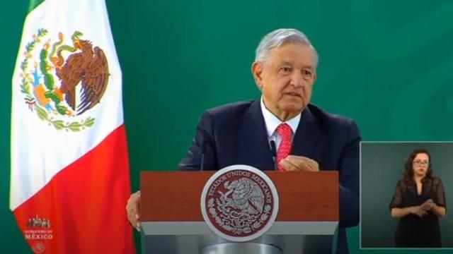 El presidente de México, Andrés Manuel Lopéz Obrador, en conferencia de prensa desde Quéretaro.