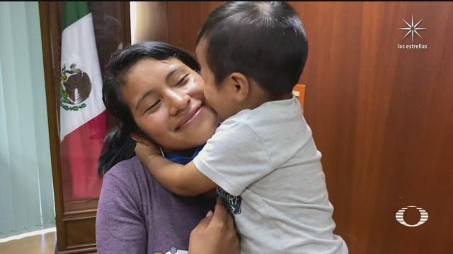 reencuentro de Dylan Esaú con su madre Juanita Pérez