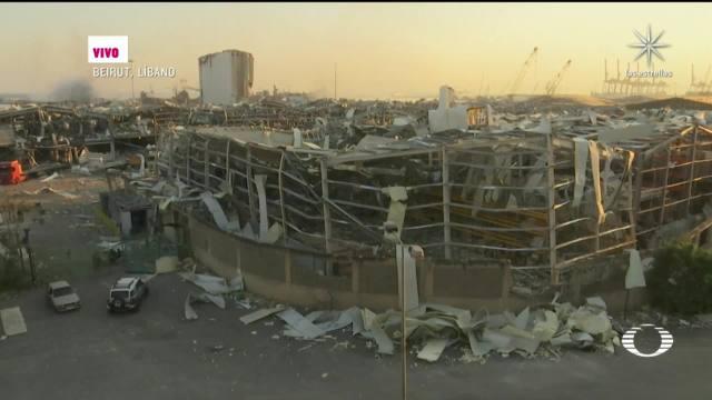 imágenes de beirut tras explosion en almacen con material explosivo