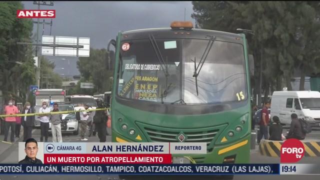 Un autobús del trasporte público atropelló a un vendedor ambulante en avenida Congreso de la Unión, CDMX