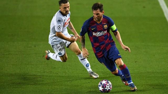 Lionel Messi contra el Napoli