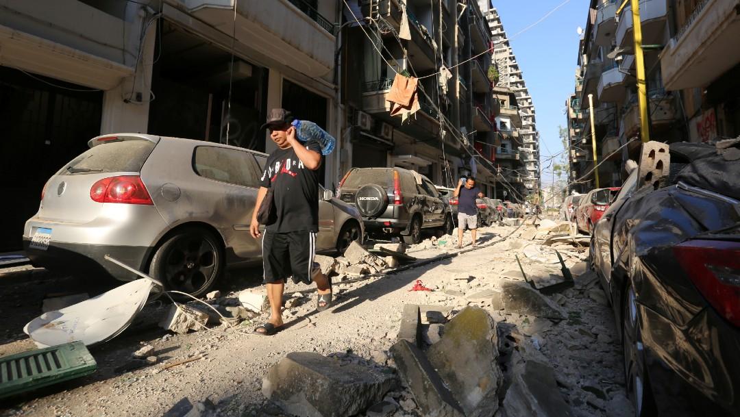 Beirut daños por explosión
