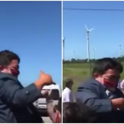 Video: Bolsonaro carga a un hombre con enanismo pensando que era un niño