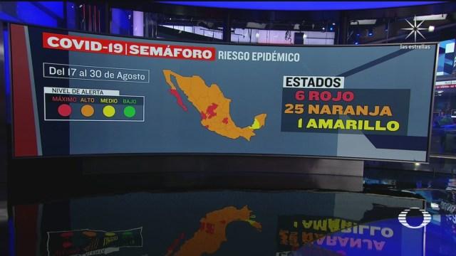 Campeche es el primer estado en color amarillo en el semaforo epidemiologico