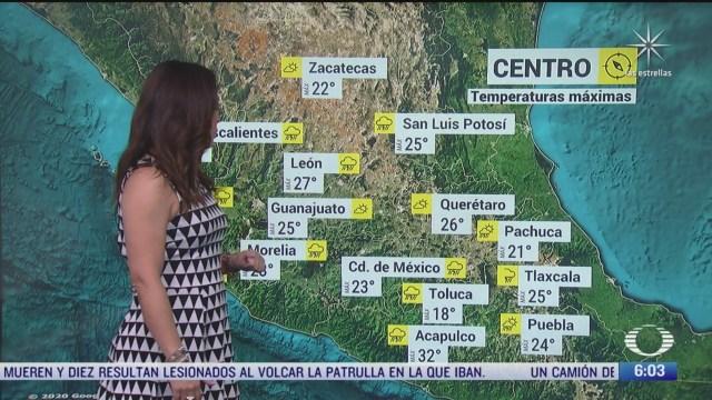 canal de baja presion provocara fuertes lluvias con granizadas en mexico