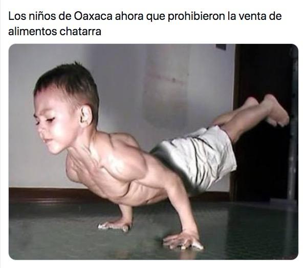 Los memes sobre los niños sin comida chatarra en Oaxaca