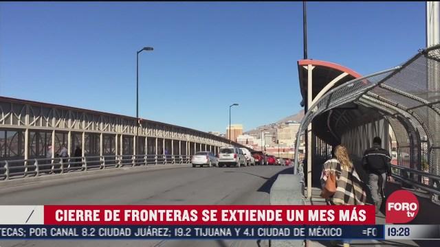 l cierre en la frontera México-EEUU se extiende hasta 21 de septiembre